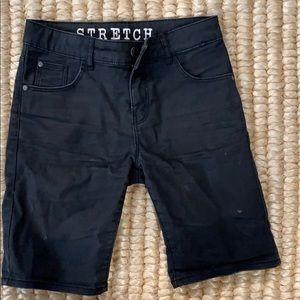H&am black denim stretch boy shorts 8